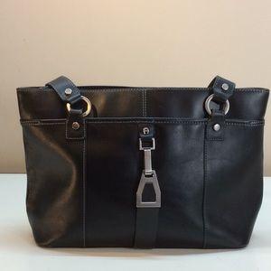 Etienne Aigner Black 7 Compartments Shoulder Bag